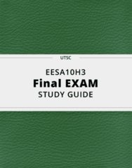 EESA10H3- Final Exam Guide - Comprehensive Notes for the exam ( 71 pages long!)