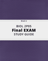 BIOL 2P05- Final Exam Guide - Comprehensive Notes for the exam ( 93 pages long!)