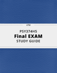 PSY374H5- Final Exam Guide - Comprehensive Notes for the exam ( 46 pages long!)