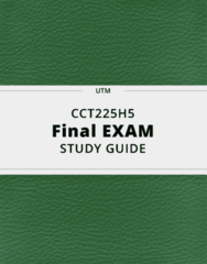 CCT225H5- Final Exam Guide - Comprehensive Notes for the exam ( 81 pages long!)
