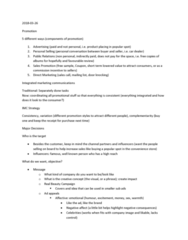 MGMA01H3 Lecture Notes - Lecture 9: Integrated Marketing Communications, Mcrib, Convenience Store