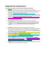 Biology 1201A Study Guide - Midterm Guide: Sister Chromatids, Kinetochore, Centrosome
