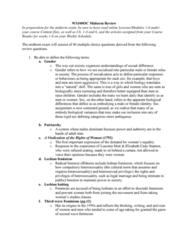 WS100 Study Guide - Midterm Guide: Lucretia Mott, Lesbian Feminism, Compulsory Heterosexuality