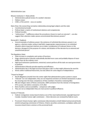 POLS 2350 Lecture Notes - Lecture 5: Habeas Corpus, Administrative Law, Criminal Injuries Compensation Authority