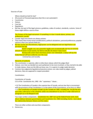 POLS 2350 Lecture Notes - Lecture 2: Constitution Act, 1982, Canada Act 1982, Royal Assent