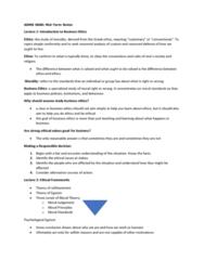 ECN 102 Lecture Notes - Lecture 1: Ethical Egoism, Business Ethics, Egotism