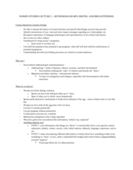 Women's Studies 2163A/B Lecture Notes - Lecture 2: Cervical Cap, Fallopian Tube, Exogamy