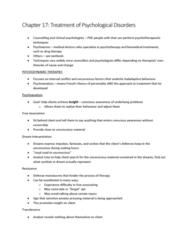 Psychology 1000 Chapter Notes - Chapter 17: Deinstitutionalisation, Alprazolam, Antipsychotic