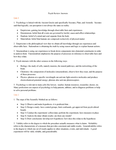 study guides for jeanne mulder oneclass rh oneclass com ap psychology chapter 6 learning study guide answers psychology unit 6 learning study guide answers