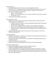 PSYC 361 Lecture Notes - Lecture 22: Learned Helplessness, Operant Conditioning, Prefrontal Cortex