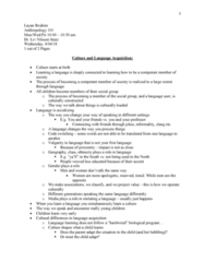 ANT 101 Lecture Notes - Lecture 19: Stutz Motor Company, Complex Cobordism, Code-Switching