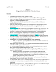 PSYC 208 Chapter Notes - Chapter 4: Embalming