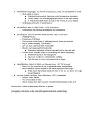 ART HIST 250 Lecture Notes - Lecture 9: Jan Van Eyck, Giovanni Arnolfini, Hans Memling