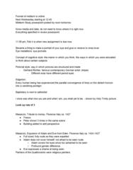 ART HIST 250 Lecture Notes - Lecture 1: Gerhard Richter, Quattrocento, Masaccio