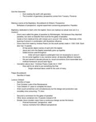 ART HIST 250 Lecture Notes - Lecture 2: Lorenzo Ghiberti, Andrea Pisano, Filippo Brunelleschi