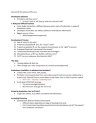 REAL 4830 Lecture Notes - Lecture 2: Construction Loan