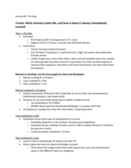 REAL 4830 Lecture Notes - Lecture 3: Urban Growth Boundary, Capitalization Rate, Offshoring