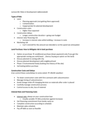 REAL 4830 Lecture Notes - Lecture 8: Interest Rate