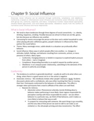 PSYCH 2800 Chapter Notes - Chapter 9: Normative Social Influence, Social Proof, Major Force