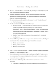 LIN229H5 Chapter Notes - Chapter 16: Phonological Word, Prosodic Unit, Part Of Speech