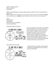 Women's Studies 1020E Lecture Notes - Lecture 7: Ableism, Dyslexia
