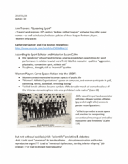Women's Studies 1020E Lecture Notes - Lecture 10: Kathrine Switzer, Victorian America, Hypersexuality