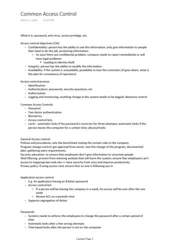 rsm427h1-lecture-9-common-access-control