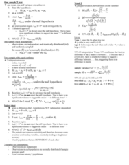 STAT 2050 Study Guide - Midterm Guide: Independent And Identically Distributed Random Variables, Null Hypothesis