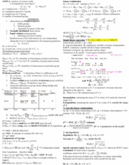 STAT 2050 Study Guide - Final Guide: Null Hypothesis, Prediction Interval, Dependent And Independent Variables