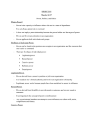 HROB 2090 Lecture Notes - Lecture 18: Organizational Commitment, Role Conflict, Assertiveness