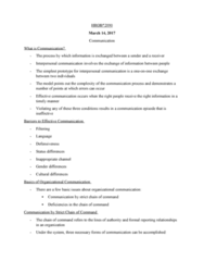 HROB 2090 Lecture Notes - Lecture 17: Psychological Safety, Jargon, Shared Belief