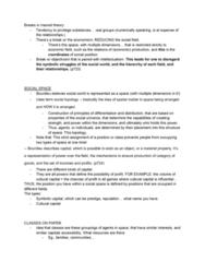 PHIL 335 Final: BOURDIEU ARTICLE NOTES