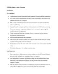 ITEC 1000 Chapter 5: ITEC 1000 Chapter 5 Notes