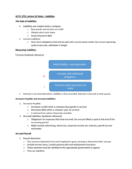 ACTG 1P91 Lecture Notes - Lecture 10: Income Statement, Canada Pension Plan, Accrued Interest