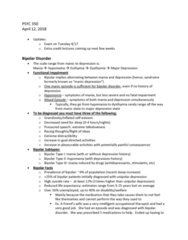 PSYC 350 Lecture Notes - Lecture 21: Hyperfocus, Valproate, Olanzapine