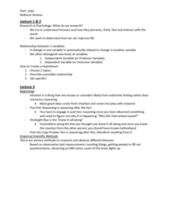 PSYC 2360 Study Guide - Midterm Guide: Sampling Distribution, Discriminant Validity, Falsifiability