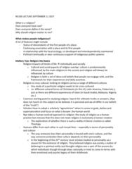 RE100 Lecture Notes - Lecture 1: Sigmund Freud, Agnosticism