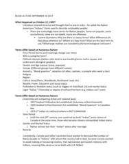 RE100 Lecture Notes - Lecture 1: Spanish Requirement Of 1513, Gradual Civilization Act, Squaw
