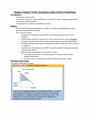 Econ 3hh3 Chapter 8 Chapter 8 Import Tariffs And Quotas Under