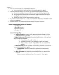 BIOA01H3 Lecture Notes - Lecture 7: Streptococcus, Cytosol, Adenylyl Cyclase