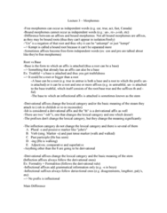 LIN232H5 Lecture Notes - Lecture 3: Suppletion, Adverb, Phonetic Transcription