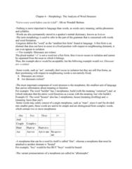 LIN232H5 Chapter Notes - Chapter 4: Affix, Special Senses, Part Of Speech