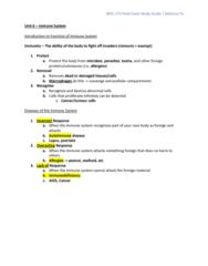 BIOL273 Study Guide - Final Guide: Immunoglobulin D, Venule, Aortic Valve