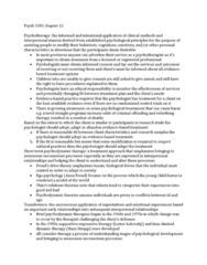 Psychology 3301F/G Chapter Notes - Chapter 11: Interpersonal Psychotherapy, Attachment Therapy, Cognitive Behavioral Therapy