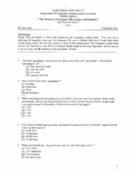 GEOG 220 Study Guide - Midterm Guide: Azimuth, Romulan, Tropics