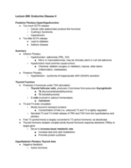 Pathology 3500 Lecture Notes - Lecture 24: Pituitary Adenoma, Basal Metabolic Rate, Hyperfunction