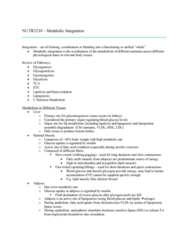 NUTR 3210 Lecture Notes - Lecture 8: Lipoprotein Lipase, Lipogenesis, Blood Sugar