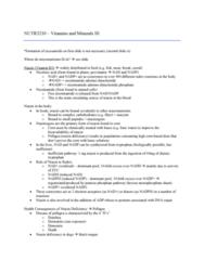 NUTR 3210 Lecture Notes - Lecture 11: Nicotinamide Adenine Dinucleotide Phosphate, Pentose Phosphate Pathway, Vitamin B3 Complex