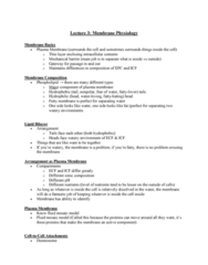 PHIS 206 Lecture Notes - Lecture 3: Fluid Mosaic Model, Cell Membrane, Desmosome
