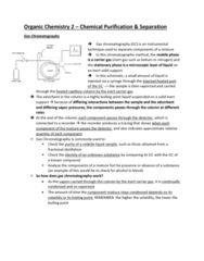 CHE 211 Study Guide - Midterm Guide: Gas Chromatography, Inert Gas, Fractional Distillation
